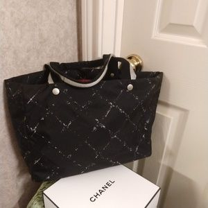 Authentic Chanel Travel Tote Bag